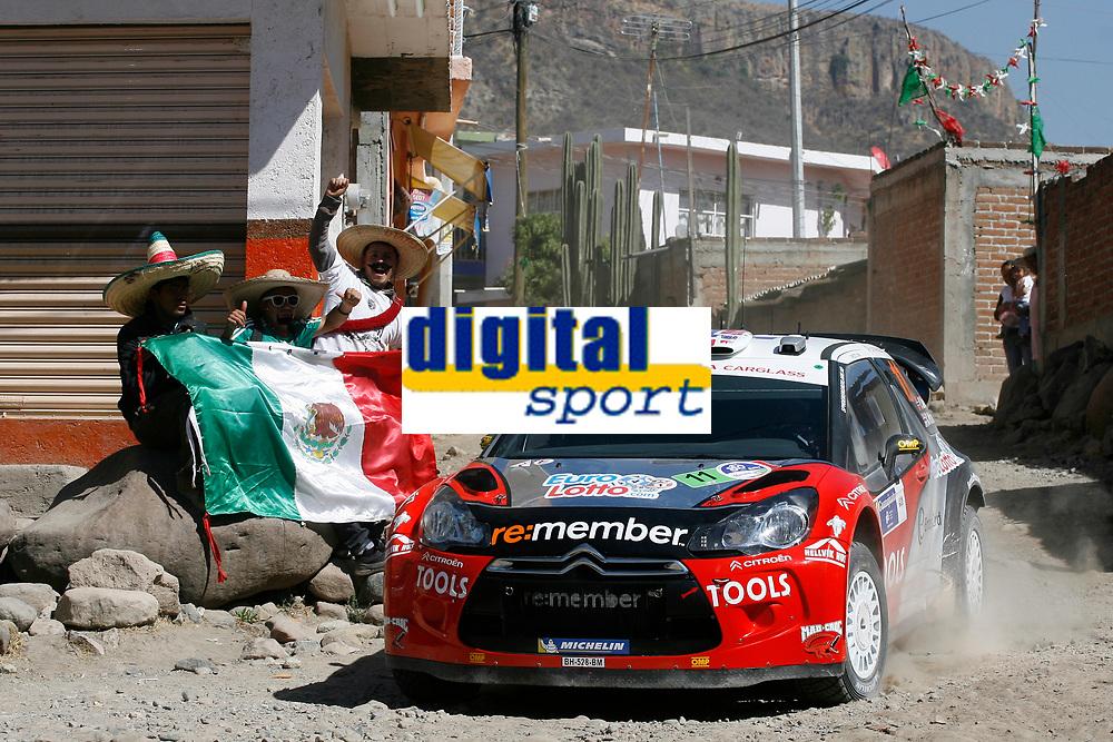 MOTORSPORT - WORLD RALLY CHAMPIONSHIP 2011 - RALLY GUANAJUATO MEXICO / RALLYE DU MEXIQUE - 03 TO 06/03/2011 - PHOTO : BASTIEN BAUDIN / DPPI - <br /> 11 PETTER SOLBERG (NOR) / CHRIS PATTERSON (GBR) - CITROEN DS3 WRC - PETTER SOLBERG WRT - ACTION