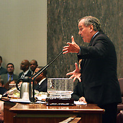 Mayor Richard M. Daley presiding over his last city council meeting in City Hall May 4, 2011.  Photography by Jose More