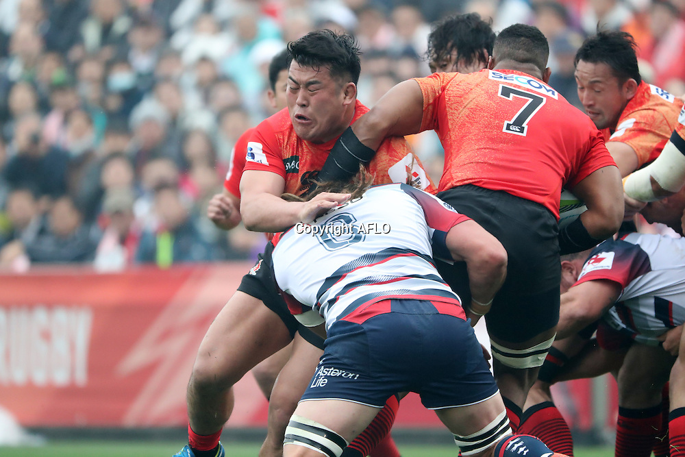 Takuma Asahara (Sunwolves),<br /> MARCH 19, 2016 - Rugby : Super Rugby match between Sunwolves 9-35 Melbourne Rebels at Prince Chichibu Memorial Stadium in Tokyo, Japan. (Photo by AFLO)
