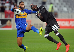 Cape Town 18-03-14  Cape Town city Taariq Fielies attacking as Orlando Pirates Augustine Mulenga   trying to defend in the Nedbank Cup last 16  in  Cape Town Stadium Pictures Ayanda Ndamane African news agency/ANA