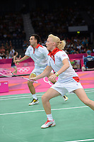 Imogen Bankier and Chris Adcock, Great Britain, Olympic Badminton London Wembley 2012