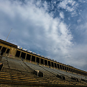 A general view of the stands prior to the game at Harvard Stadium on May 10, 2014 in Boston, Massachusetts. (Photo by Elan Kawesch)