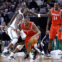 06 March 2012: Boston Celtics small forward Mickael Pietrus (28) defends on Houston Rockets point guard Kyle Lowry (7) during the Boston Celtics 97-92 (OT) victory over the Houston Rockets at the TD Garden, Boston, Massachusetts, USA.