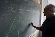 Blackboard workings by Mathematician and Risk guru, Professor Sir David Spiegelhalter at the Centre for Mathematical Sciences at the University of Cambridge.