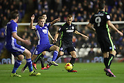 Brighton & Hove Albion central midfielder Steve Sidwell (14) during the EFL Sky Bet Championship match between Birmingham City and Brighton and Hove Albion at St Andrews, Birmingham, England on 17 December 2016.