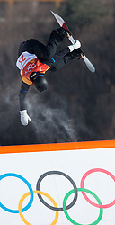 February 10, 2018 - Pyeongchang, South Korea - NIKLAS MATTSSON of Sweden takes on a feature near the top of the Snowboard Slopestyle course at Phoenix Snow Park at the Pyeongchang Winter Olympic Games. Mattsson finished ninth. Photo by Mark Reis, ZUMA Press/The Gazette (Credit Image: © Mark Reis via ZUMA Wire)