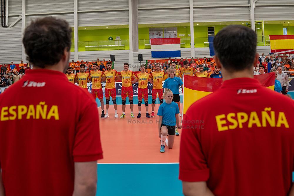 09-06-2019 NED: Golden League Netherlands - Spain, Koog aan de Zaan<br /> Fourth match poule B - The Dutch beat Spain again in five sets in the European Golden League / Line up Spain