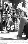 Terence Conran & Nicola Fornby lunch. Rib room, Carlton tower, Cadogan Sq. London. 23/9/99<br />© Copyright Photograph by Dafydd Jones<br />66 Stockwell Park Rd. London SW9 0DA<br />Tel 0171 733 0108