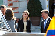 030115 Spanish Royals and President of Colombia Meet For An Official Lunch