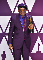 Spike Lee, winner of the Best Adapted Screenplay Award for BlacKkKlansman in the press room at the 91st Academy Awards held at the Dolby Theatre in Hollywood, Los Angeles, USA.