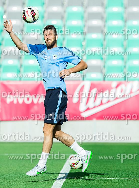Bostjan Cesar during practice session of Slovenian National Football Team before Euro 2016 Qualifications match against England, on June 12, 2015 in SRC Stozice, Ljubljana, Slovenia. Photo by Vid Ponikvar / Sportida