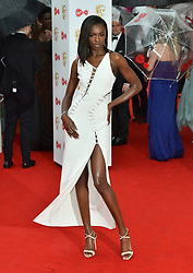 Leomie Anderson arriving for the Virgin TV British Academy Television Awards 2017 held at Festival Hall at Southbank Centre, London. PRESS ASSOCIATION Photo. Picture date: Sunday May 14, 2017. See PA story SHOWBIZ Bafta. Photo credit should read: Matt Crossick/PA Wire