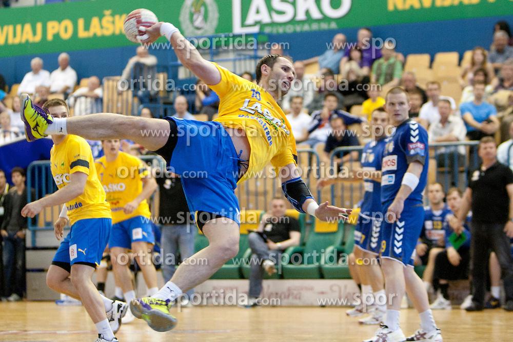 Alem Toskic of Celje PL during handball match between RK Celje Pivovarna Lasko vs RK Cimos Koper in 9th Round of 1st NLB Leasing Champions league 2011/12, on May 19, 2012 in Arena Zlatorog, Celje, Slovenia. (Photo by Urban Urbanc / Sportida.com)