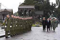 Taoiseach Enda Kenny arrives for the opening of the Necrology Wall at Glasnevin cemetery.