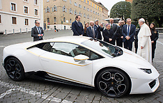 Pope Francis Presented WIth A Lamborghini - 15 Nov 2017