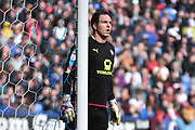 Chesterfield Goalkeeper,Thorsten Stuckmann (38) during the EFL Sky Bet League 1 match between Bolton Wanderers and Chesterfield at the Macron Stadium, Bolton, England on 1 April 2017. Photo by Mark Pollitt.