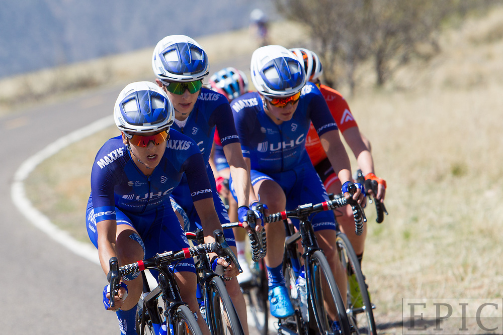 SILVERY CITY, NM - APRIL 18: UnitedHealthcare riders lead during stage 1 of the Tour of The Gila on April 18, 2018 in Silver City, New Mexico. (Photo by Jonathan Devich/Epicimages.us)