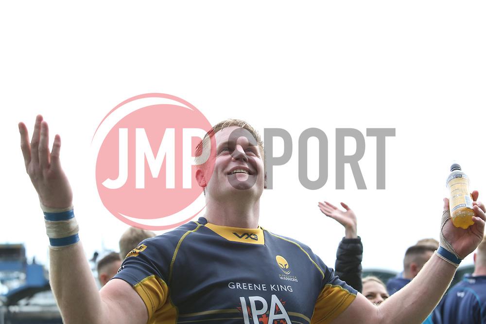 GJ van Velze of Worcester Warriors during the lap of honour - Mandatory by-line: Joe Dent/JMP - 18/05/2019 - RUGBY - Sixways Stadium - Worcester, England - Worcester Warriors v Saracens - Gallagher Premiership Rugby