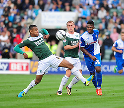 Bristol Rovers' Ellis Harrison in action against plymouth  - Photo mandatory by-line: Dougie Allward/JMP - Tel: Mobile: 07966 386802 07/09/2013 - SPORT - FOOTBALL -  Home Park - Plymouth - Plymouth Argyle V Bristol Rovers - Sky Bet League Two
