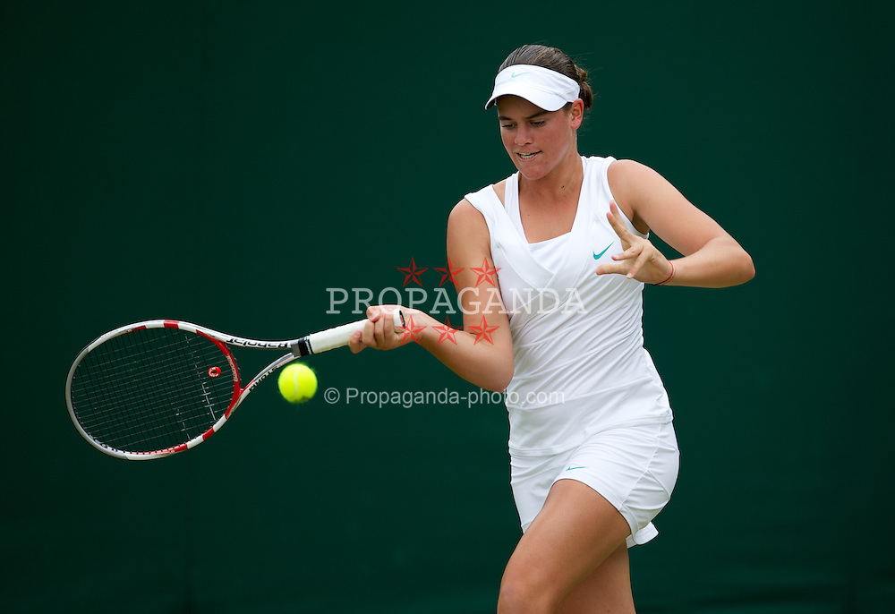 LONDON, ENGLAND - Tuesday, July 3, 2012: Jennifer Brady (USA) during the Girls' Singles 1st Round match on day eight of the Wimbledon Lawn Tennis Championships at the All England Lawn Tennis and Croquet Club. (Pic by David Rawcliffe/Propaganda)