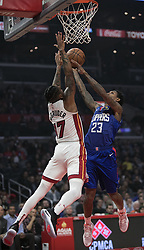 December 8, 2018 - Los Angeles, California, U.S - Lou Williams #23 of the Los Angeles Clippers puts up a layup during their NBA game with the Miami Heat on Saturday December 8, 2018 at the Staples Center in Los Angeles, California. At half, Clippers 62 vs Heat 65. (Credit Image: © Prensa Internacional via ZUMA Wire)