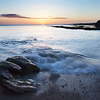 Wave Breaking on the Shore at Castle Sands St Andrews Fife Scotland