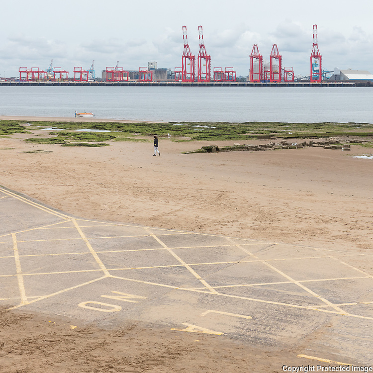 Port of Liverpool from New Brighton, Merseyside.