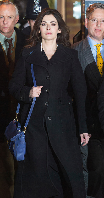 The TV Chef Nigella Lawson leaves Isleworth Crown Court. London, United Kingdom. Wednesday, 4th December 2013. The TV chef is expected to testify today at trial for Francesca and Elisabetta Grillo, who appear charged with fraud after allegedly using a company credit card to defraud the TV chef and her former husband out of ¬£300,000. Picture by i-Images<br /> File Photo  - Nigella Lawson and Charles Saatchi PAs cleared of fraud. The trial of Francesca Grillo, 35, and sister Elisabetta, 41, heard they spent £685,000 on credit cards owned by the TV cook and ex-husband Charles Saatchi.<br /> Photo filed Monday 23rd December 2013