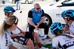 Doltcini Van Eyck Sport team talk at Tour of Chongming Island 2019 - Stage 3, a 118.4 km road race on Chongming Island, China on May 11, 2019. Photo by Sean Robinson/velofocus.com