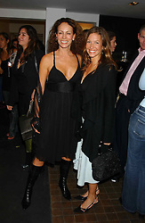 Left to right, ANDREA DELLAL and EMILY CASH who was married to tennis player Pat Cash at a party to celebrate the opening of an exhibition of photographs by the late Norman Parkinson held at Hamiltons gallery, 13 Carlos Place, London W1 on 14th September 2004.<br />