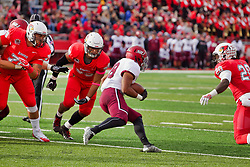 NORMAL, IL - October 13: Chris Perkins during a college football game between the ISU (Illinois State University) Redbirds and the Southern Illinois Salukis on October 13 2018 at Hancock Stadium in Normal, IL. (Photo by Alan Look)
