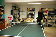 Cavaco Silva playing table tennis in his house in Algarve.