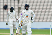 Sam Northeast of Hampshire during the Specsavers County Champ Div 1 match between Hampshire County Cricket Club and Worcestershire County Cricket Club at the Ageas Bowl, Southampton, United Kingdom on 13 April 2018. Picture by Graham Hunt.
