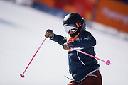 PYEONGCHANG-GUN, SOUTH KOREA - FEBRUARY 17: Maggie Voisin of USA reacts during the Womens Slopestyle Freestyle Skiing on day eight of the PyeongChang 2018 Winter Olympic Games at Phoenix Snow Park on February 17, 2018 in Pyeongchang-gun, South Korea. Photo by Nils Petter Nilsson/Ombrello               ***BETALBILD***