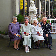 A favorite image -- the four grandmothers.  Their experience, age and beauty, contrasted by the youth behind.