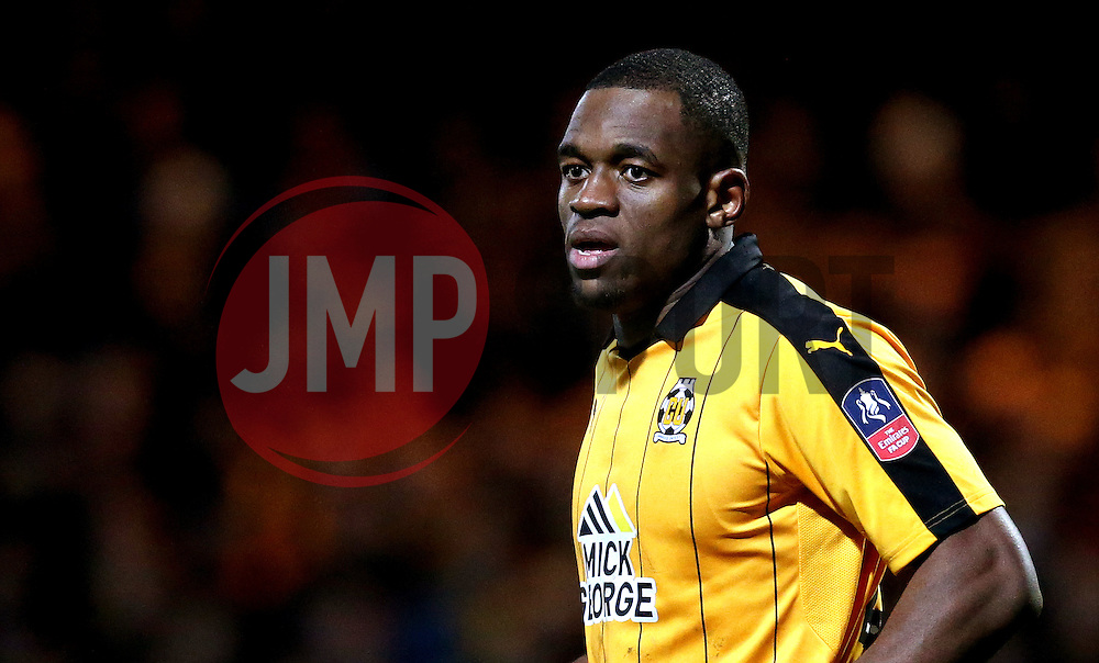 Uche Ikpeazu of Cambridge United - Mandatory by-line: Robbie Stephenson/JMP - 09/01/2017 - FOOTBALL - Cambs Glass Stadium - Cambridge, England - Cambridge United v Leeds United - FA Cup third round