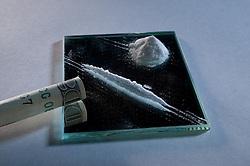 Illegal drug: marijuana cigarette or joint.