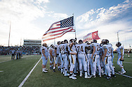 Frisco Heritage takes the field before kickoff against The Colony at Tommy Briggs Cougar Stadium in The Colony, Texas on September 11, 2015. (Cooper Neill/Special Contributor)