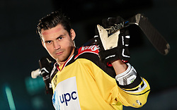 10.08.2015, Red Bull Akademie Liefering, Salzburg, AUT, EBEL, Medien Tag, im Bild Florian Iberer (Vienna Capitals) // during the Erste Bank Icehockey League Media Day at the Red Bull Football and Icehockey Academy Liefering in Salzburg, Austria on 2015/08/10. EXPA Pictures © 2015, PhotoCredit: EXPA/ JFK