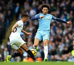 Leroy Sane of Manchester City is tackled by Kyle Naughton of Swansea City - Mandatory by-line: Matt McNulty/JMP - 05/02/2017 - FOOTBALL - Etihad Stadium - Manchester, England - Manchester City v Swansea City - Premier League