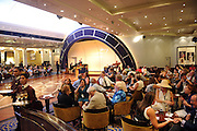 Guests enjoy the remastered Queen Mary 2, Wednesday, July 6, 2016, at Brooklyn Cruise Terminal in New York, its U.S. homeport.  The Queen Mary 2 spent 25 days in dry dock and a refit that cost in the region of $132 million, renovating its staterooms, restaurants and public areas.  (Diane Bondareff/AP Images for Cunard)