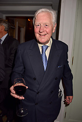 Sir Benjamin Slade at a party to celebrate the publication of Resolution by The Duke of Rutland and Emma Ellis held at Trinity House, Tower Hill, London England. 10 April 2017.