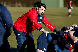 Former England International prop Alex Corbisiero takes training in his new role as England U20 positional coach - Mandatory byline: Rogan Thomson/JMP - 08/03/2016 - RUGBY UNION - Clifton Rugby Club - Bristol, England - England Under 20s Training at Bristol Rugby.