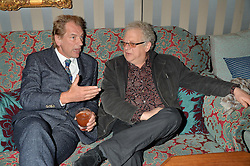 Left to right, JULIAN SANDS and JEREMY THOMAS at a private screening of 'A Postcard From Istanbul' directed by John Malkovich In Collaboration With St. Regis Hotels & Resorts held at 5 Hertford Street, London on 3rd March 2015
