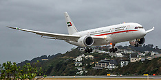 Wellington-UAE Boeing 787-8 Dreamliner flys into capital