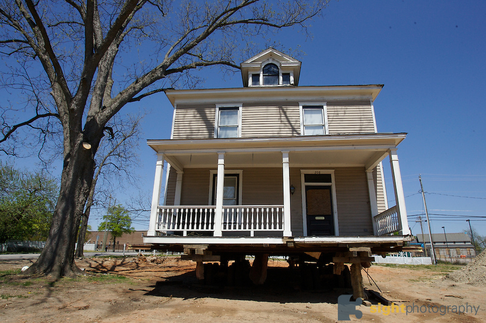 Historic houses being moved in Raleigh, North Carolina to make way for redevelopment. Photos by Bryan Rinnert