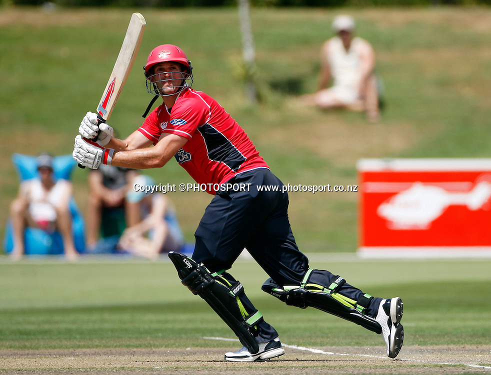 Canterbury batsman Andrew Ellis. Canterbury Wizards v Auckland Aces in the One Day Competition, Preliminary Semi Final. QEII Park, Christchurch, New Zealand. Sunday, 06 February 2011. Joseph Johnson / PHOTOSPORT.