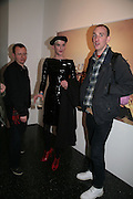 Jim Richards, 'Jeanette' and Tom Murphy, The Secret public/The Last Days of the British Underground. 1978-1988. I.C.A. London.  21 March 2007.  -DO NOT ARCHIVE-© Copyright Photograph by Dafydd Jones. 248 Clapham Rd. London SW9 0PZ. Tel 0207 820 0771. www.dafjones.com.