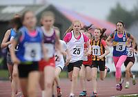 21 Aug 2016: Girls U12 600m final. 2016 Community Games National Festival 2016.  Athlone Institute of Technology, Athlone, Co. Westmeath. Picture: Caroline Quinn