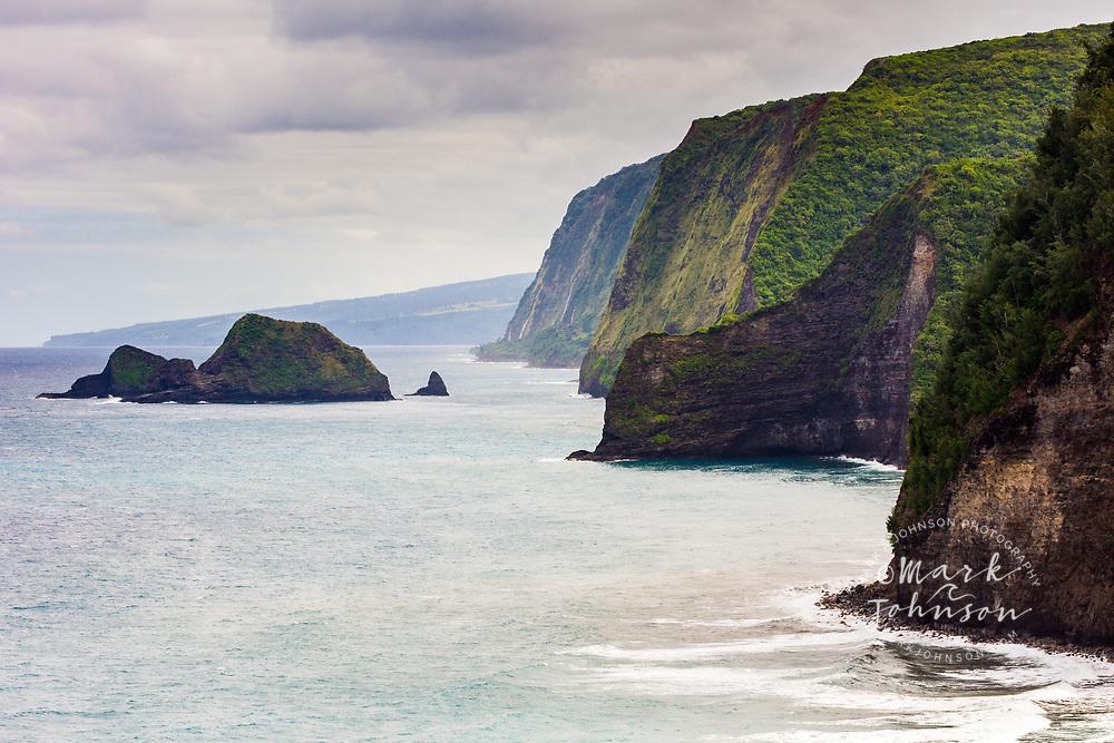 The high cliffs Pololu Valley, Big Island, Hawaii